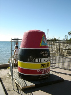 Most Southern Point Key West 90 miles to Cuba